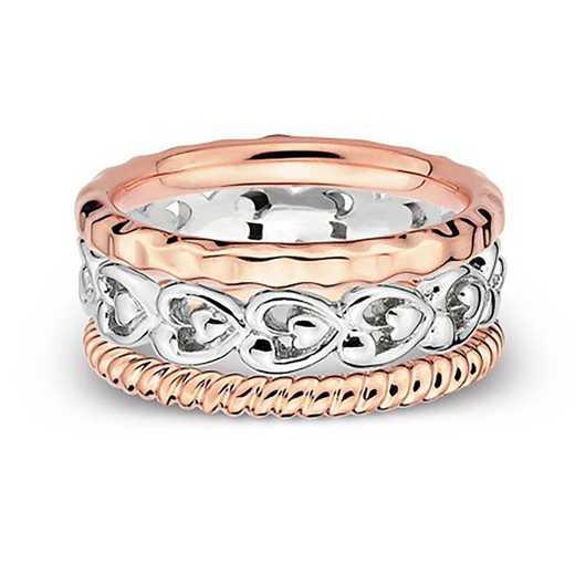 Sterling Silver Stackable Fancy Blue Ring Set