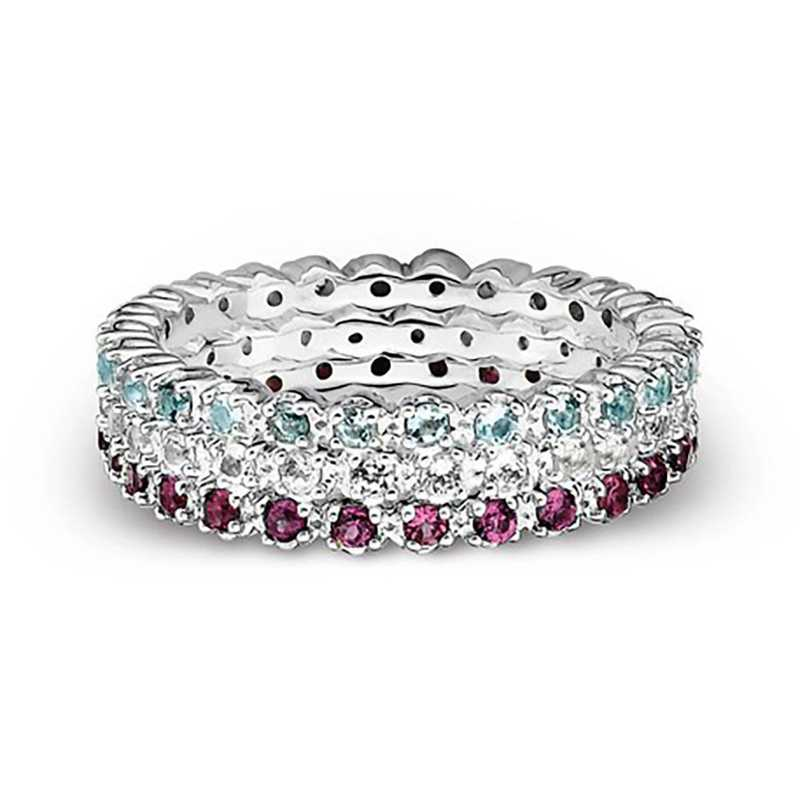 Sterling Silver Stackable Triple Threat Ring Set