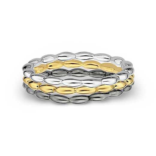 Sterling Silver Stackable Three's Better than One Ring Set