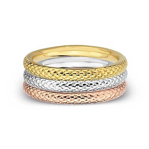 Sterling Silver Stackable Plain Bands Rin Set