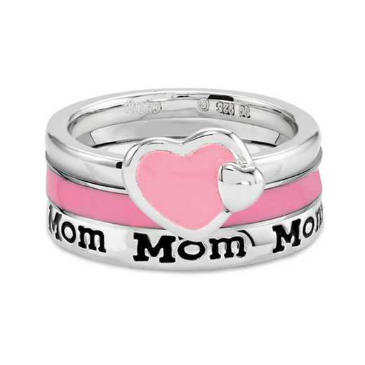Sterling Silver Stackable Mom Ring Set