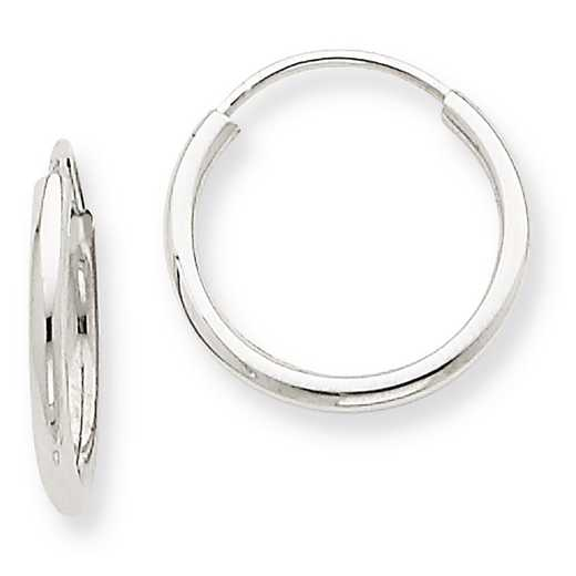 XY1181: 14K WG 1.5MM ENDLESS HOOP EARRINGS
