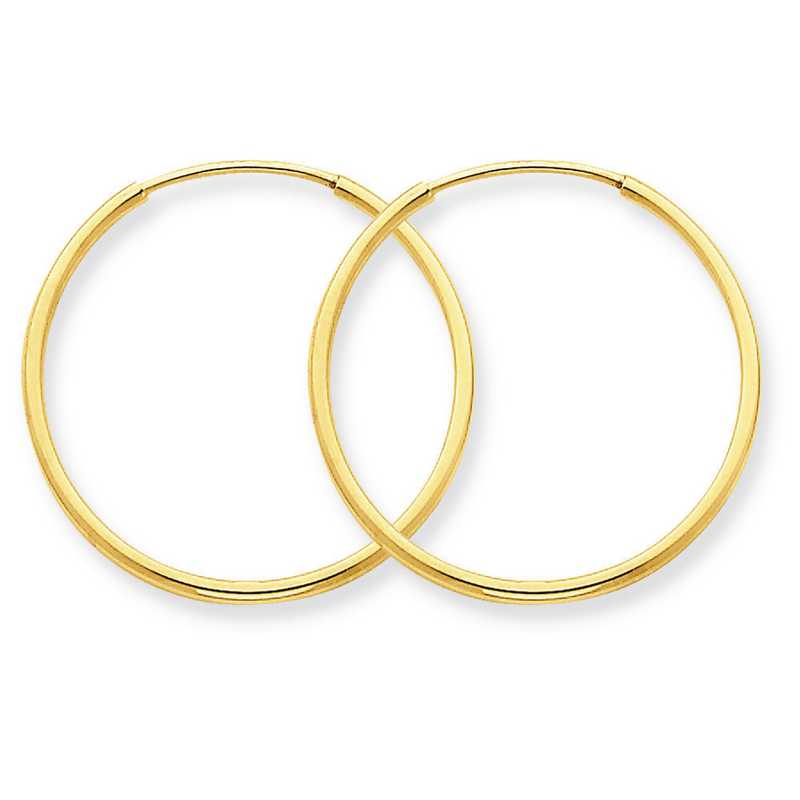 XY1207: 14K YG 1.25MM ENDLESS HOOP EARRINGS