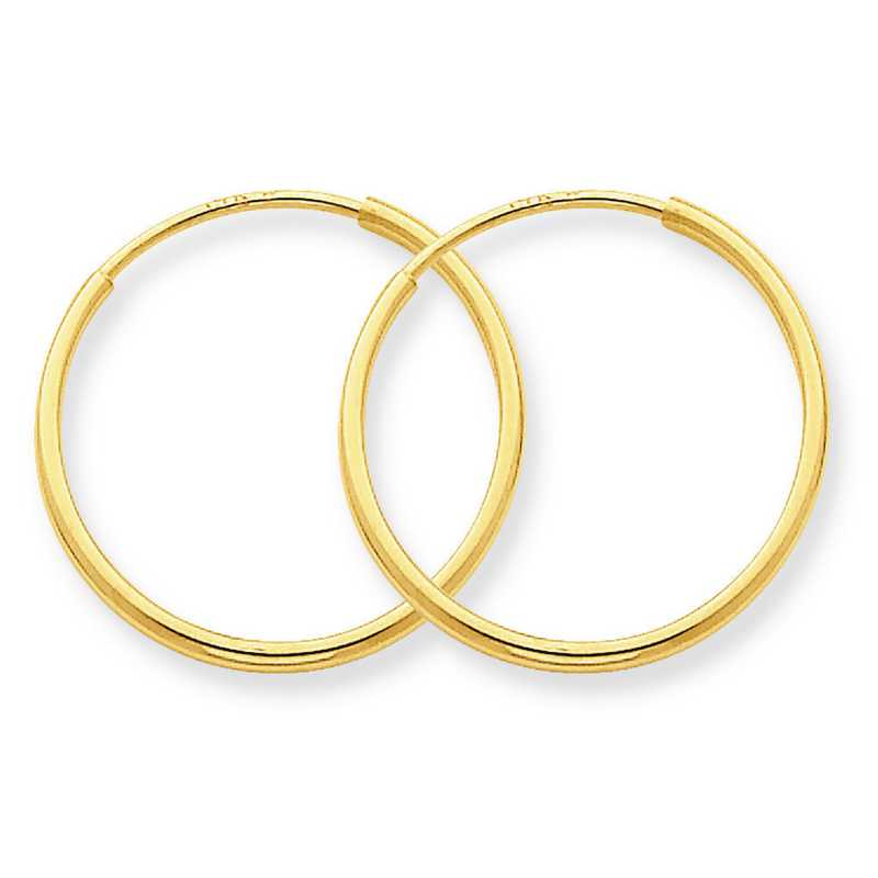 XY1208: 14K YG 1.25MM ENDLESS HOOP EARRINGS