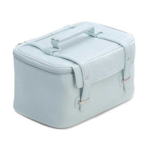 GM21283: Light Blue Leatherette Travel Makeup Case