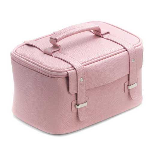 GM21284: Light Pink Leatherette Travel Makeup Case