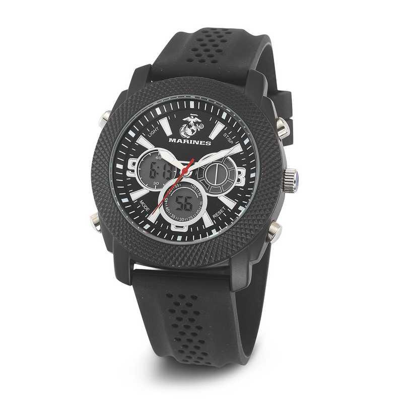 XWA4648: USMC Wrist Armor C21 Blk/White Watch