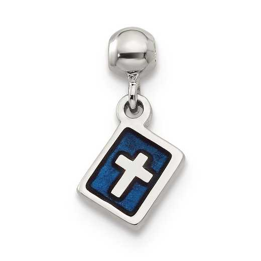 QMM132: 925 Mio Memento Enamel Dangle Cross Charm