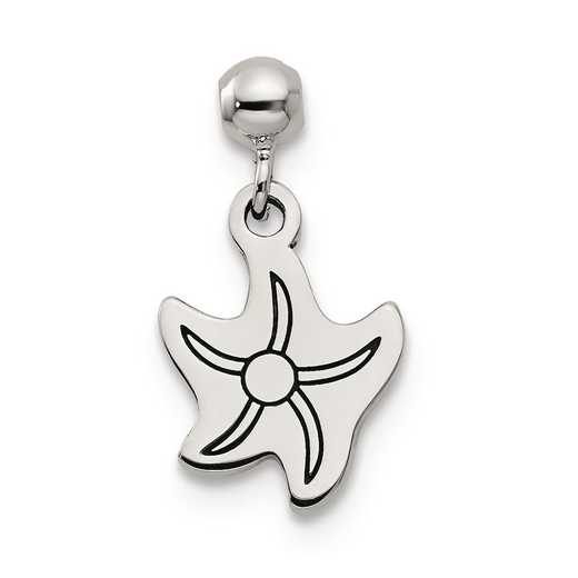 QMM148: 925 Mio Memento Dangle Star Fish Charm