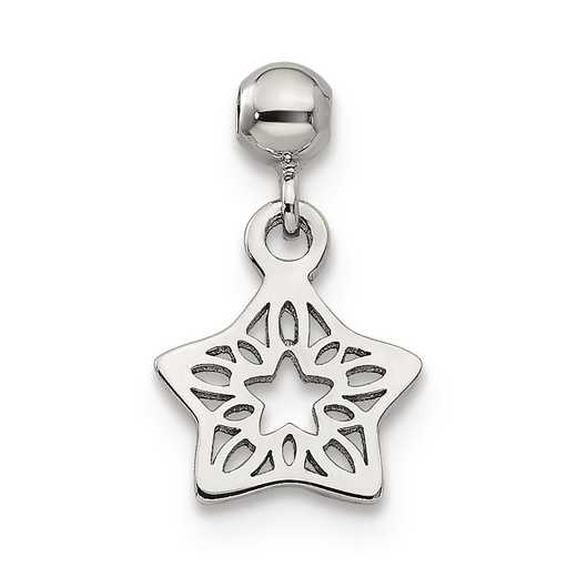QMM168: 925 Mio Memento Dangle Star Charm