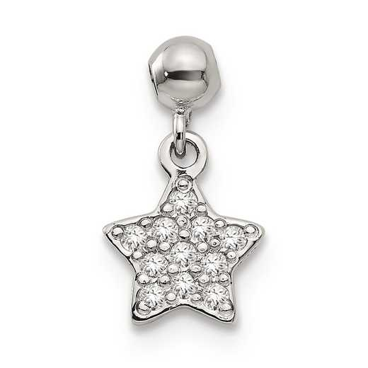 QMM177: 925 Mio Memento CZ Dangle Star Charm