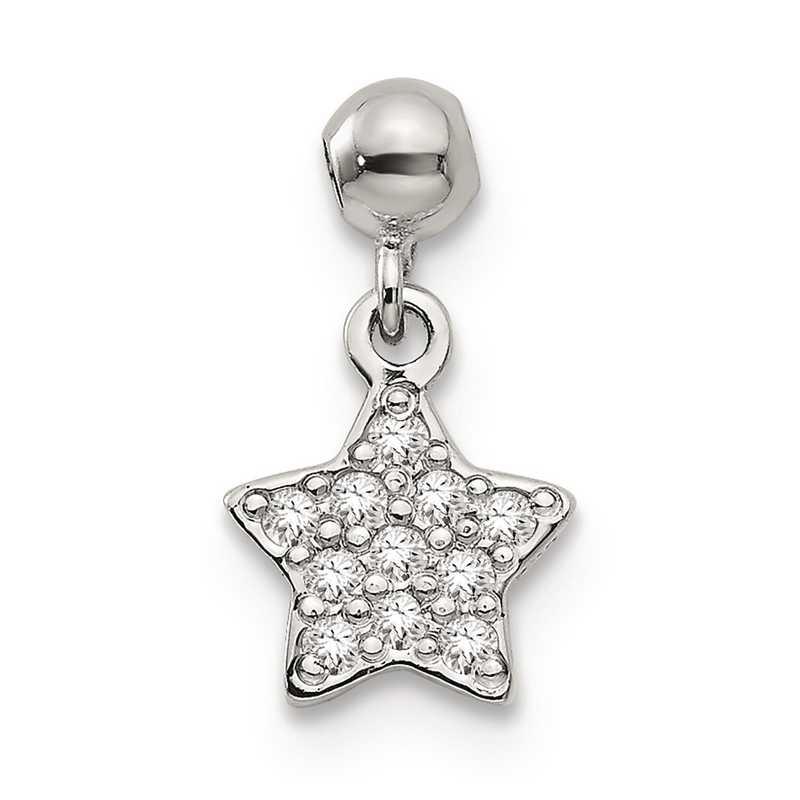 QMM177: 925 Mio Memento CZ Dangle Star Charm