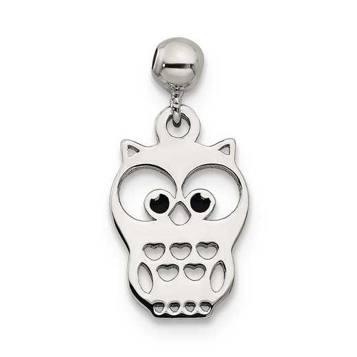 QMM187: 925 Mio Memento Enamel Dangle Owl Charm