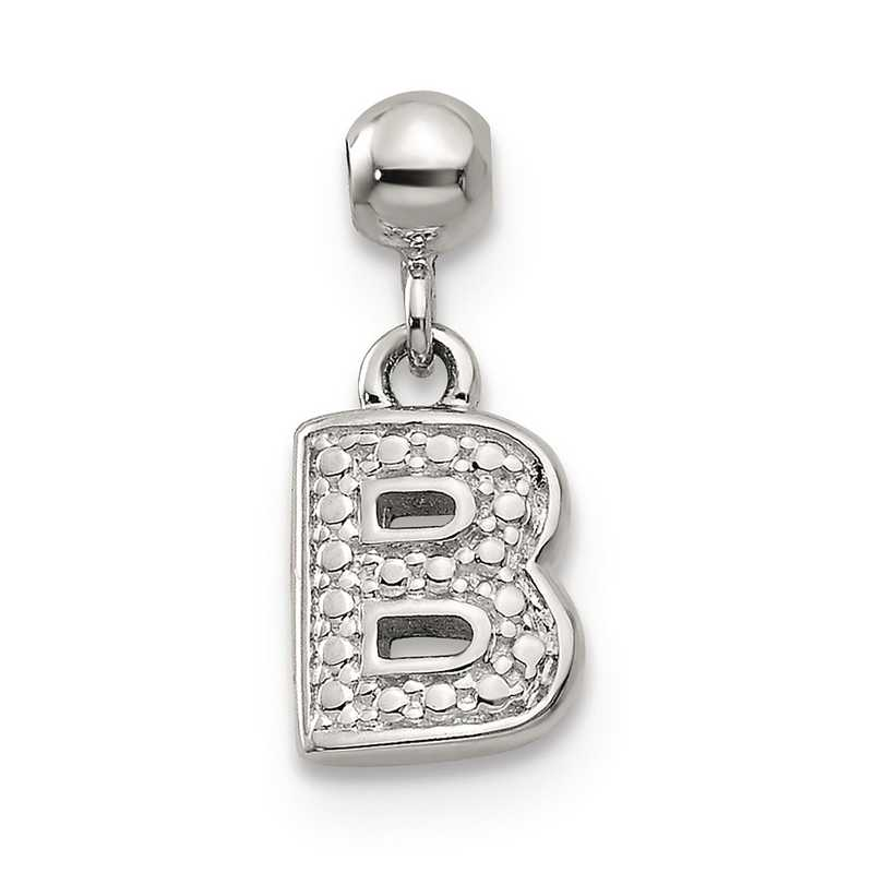 QMM190B: 925 Mio Memento Dangle Letter B Charm