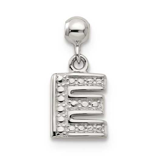QMM190E: 925 Mio Memento Dangle Letter E Charm