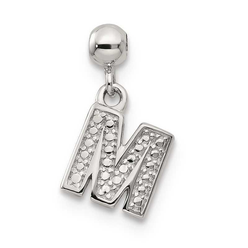 QMM190M: 925 Mio Memento Dangle Letter M Charm