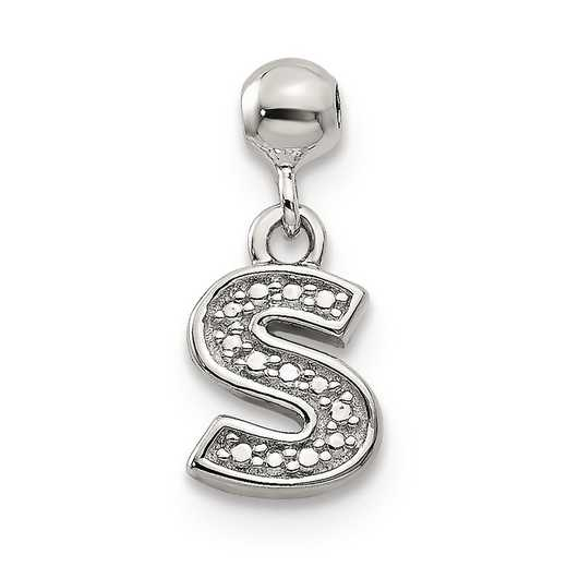 QMM190S: 925 Mio Memento Dangle Letter S Charm