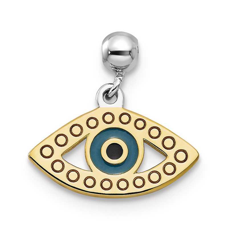 QMM207: 925 Mio Memento RHS RH PLT & Enamel Eye Charm