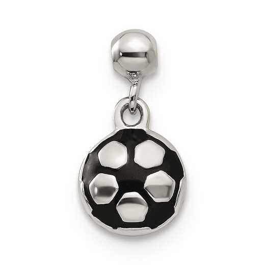 QMM220: 925 Mio Memento Enamel Dangle Soccer Ball Charm
