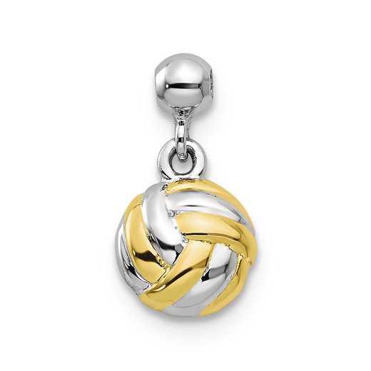 QMM221: 925 Mio Memento YLW RH PLT Ball Charm