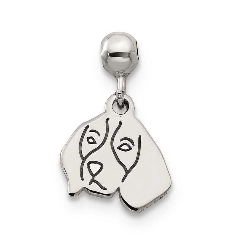 QMM230: 925 Mio Memento Dangle Dog Charm