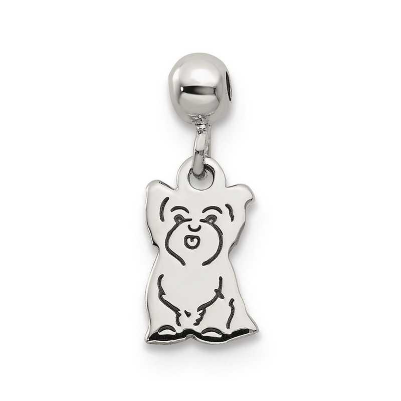 QMM231: 925 Mio Memento Dangle Dog Charm