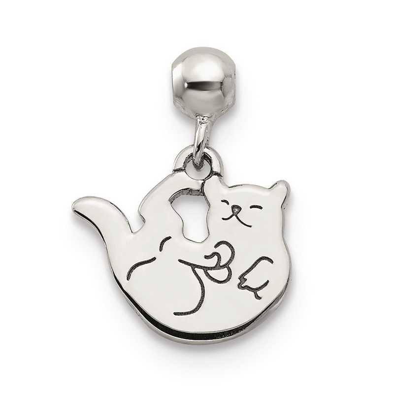QMM232: 925 Mio Memento Dangle Cat Charm