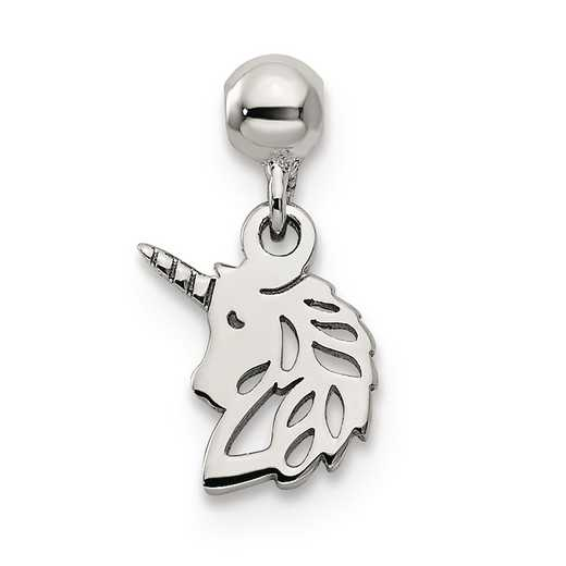QMM235: 925 Mio Memento Dangle Unicorn Charm