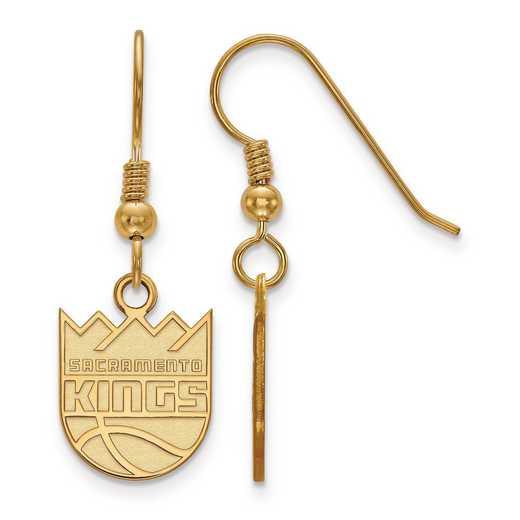 GP006KNG: 925 YGFP LogoArt Sacramento Kings Dangle Ears
