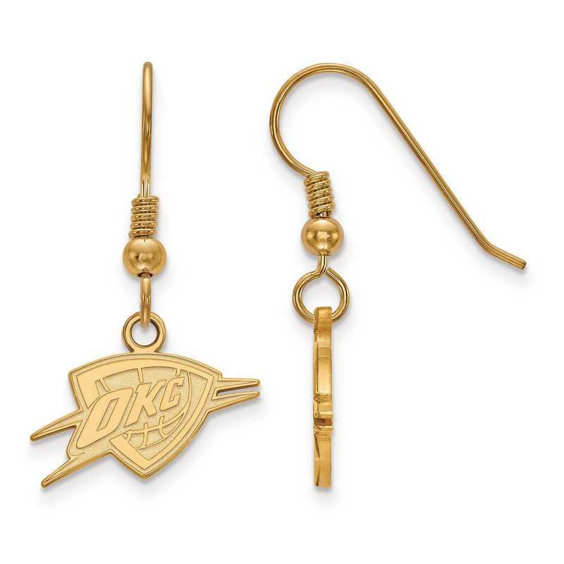 GP026THN: 925 YGFP LogoArt Oklahoma City Thunder Dangle Ears