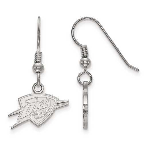 SS026THN: 925 LogoArt Oklahoma City Thunder Dangle Ears