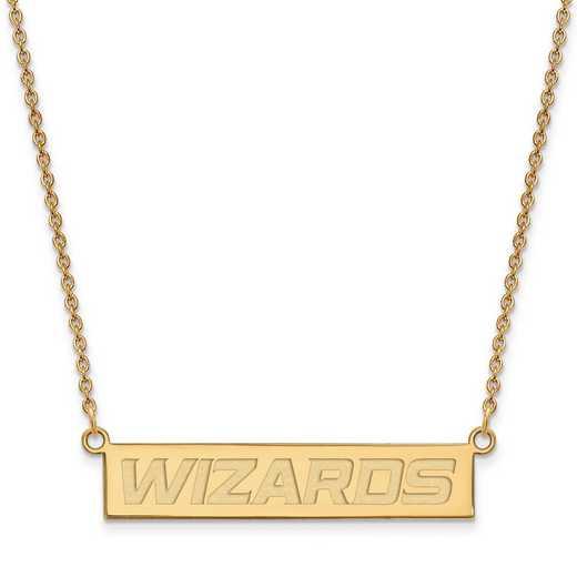 GP022WIZ-18: 925 YGFP Washington Wizards Bar Necklace