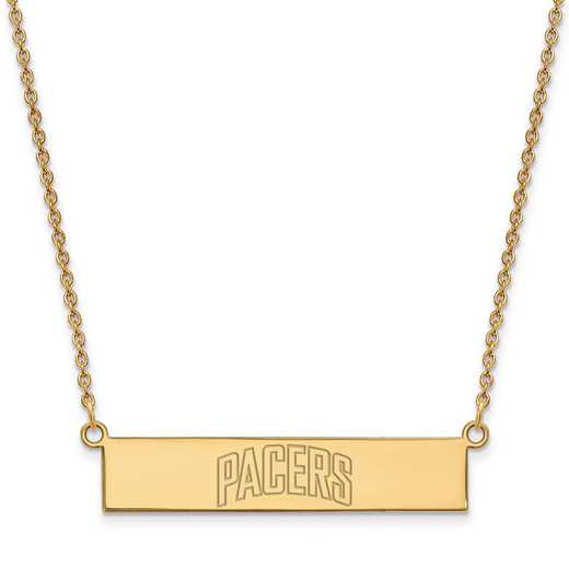 GP023PCR-18: 925 YGFP Indiana Pacers Bar Necklace