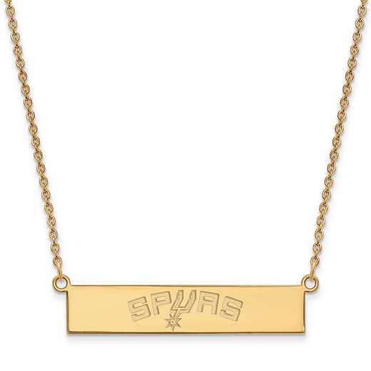 GP033SPU-18: 925 YGFP San Antonio Bar Necklace