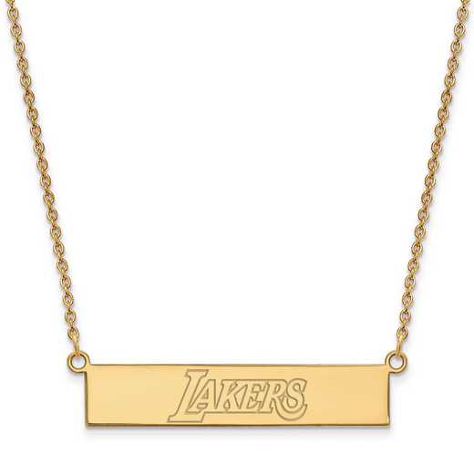 GP035LAK-18: 925 YGFP Los Angeles Lakers Bar Necklace