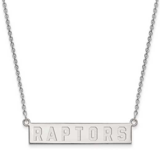 SS023RAP-18: 925 Toronto Raptors Bar Necklace