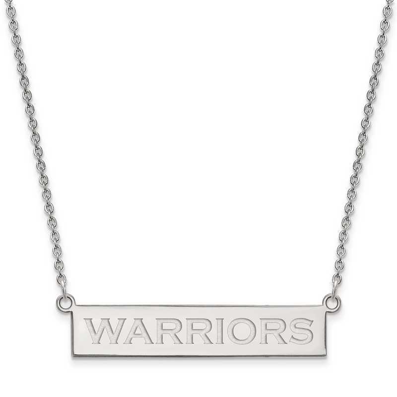 SS031WAR-18: 925 Golden State Warriors Bar Necklace