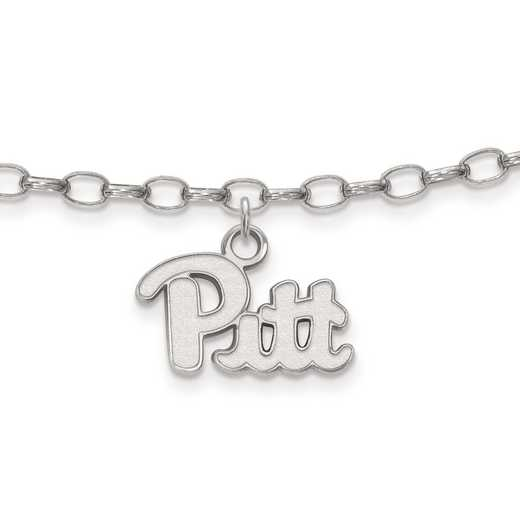 SS024UPI: Sterling Silver LogoArt University of Pittsburgh Anklet