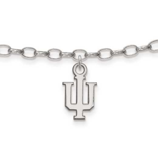 SS030IU: Sterling Silver LogoArt Indiana University Anklet