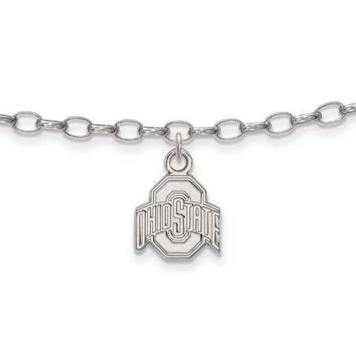 SS030OSU: Sterling Silver LogoArt Ohio State University Anklet