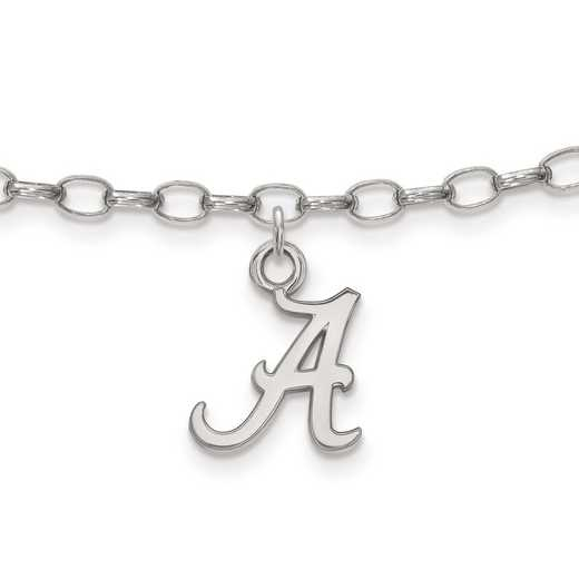 SS030UAL: Sterling Silver LogoArt University of Alabama Anklet