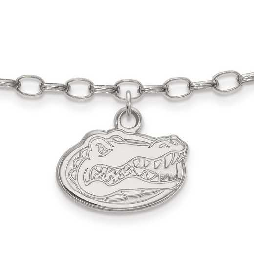 SS030UFL: Sterling Silver LogoArt University of Florida Anklet