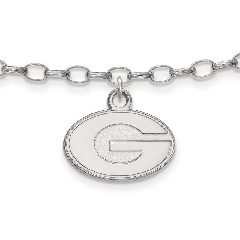 SS030UGA: Sterling Silver LogoArt University of Georgia Anklet