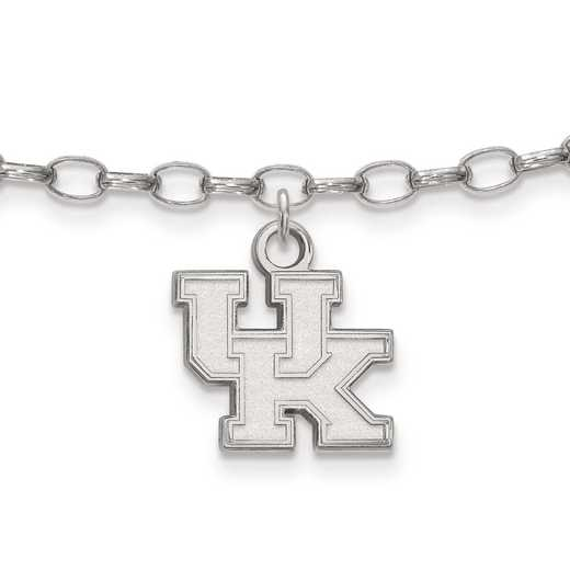 SS030UK: Sterling Silver LogoArt University of Kentucky Anklet