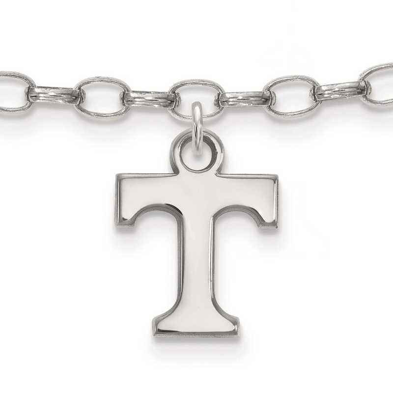 SS030UTN: Sterling Silver LogoArt University of Tennessee Anklet