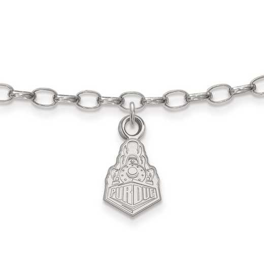 SS059PU: Sterling Silver LogoArt Purdue Anklet