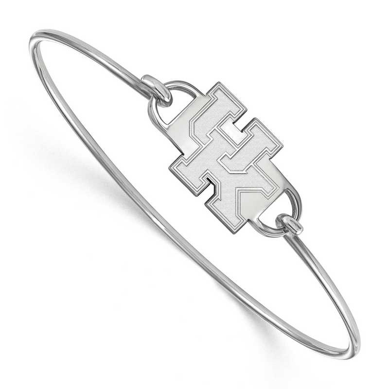 Kentucky U of Kentucky Logo Sterling Silver Wire Bangle