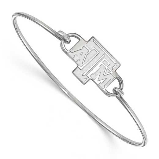 Texas A&M Logo Sterling Silver Wire Bangle
