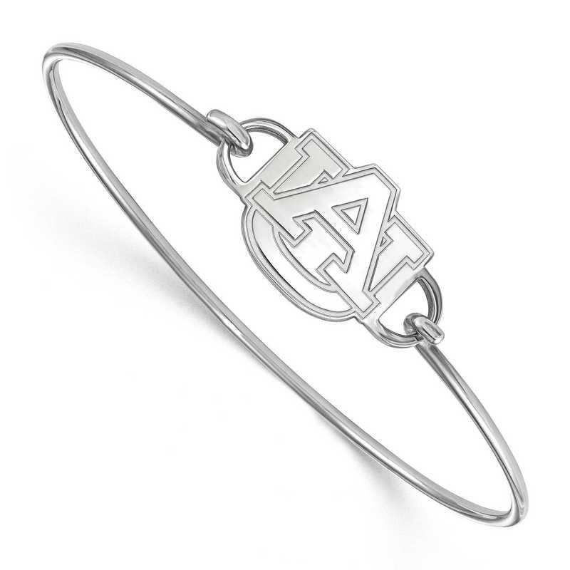 Auburn AU Logo Sterling Silver Wire Bangle