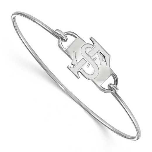 FSU Logo Sterling Silver Wire Bangle